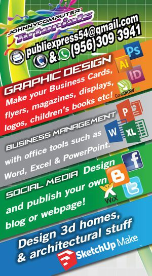 Business cards flyers lona impresa for sale in mcallen tx offerup conputer graphicdesign lessons for sale in mcallen colourmoves