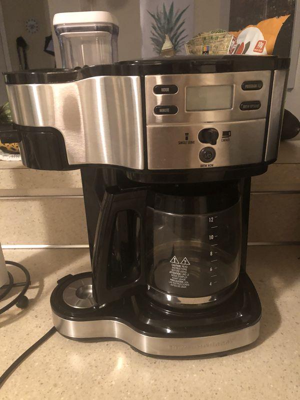 Coffee Maker Single Serve Option Hamilton Beach New Lightly