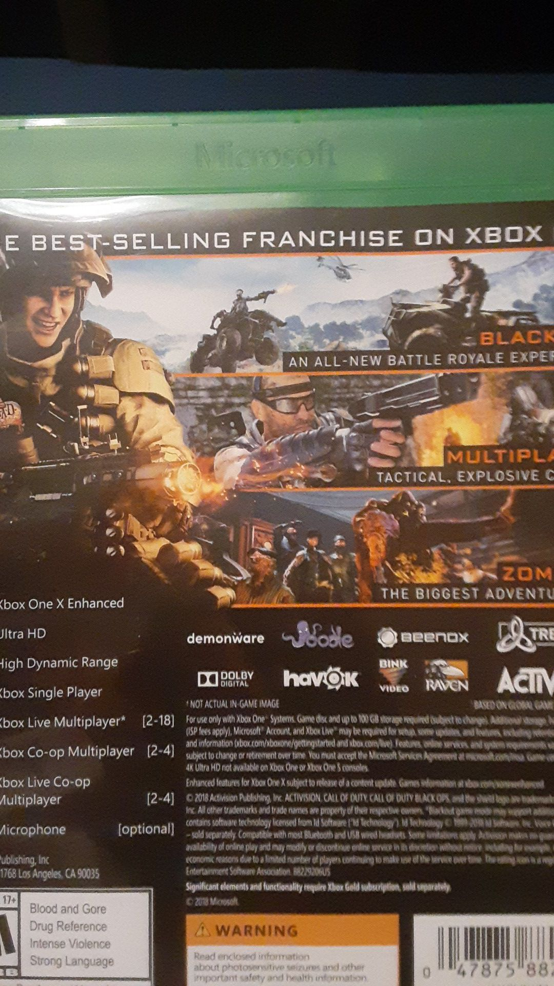 Call of Duty:BO4 for Xbox One