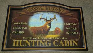 Man Cave Hunting Sign for Sale in Damascus, MD