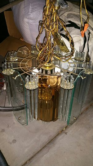 Glass chandelier light fixture with leds for Sale in Laveen Village, AZ