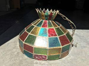 Geringer 1960s stained glass hanging lamp for Sale in Richmond, VA