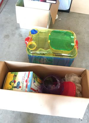 Hamster home and ball and food for Sale in Visalia, CA