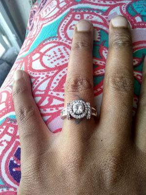 Sterling silver cubic zirconia wedding ring size 7 for Sale in Las Vegas, NV