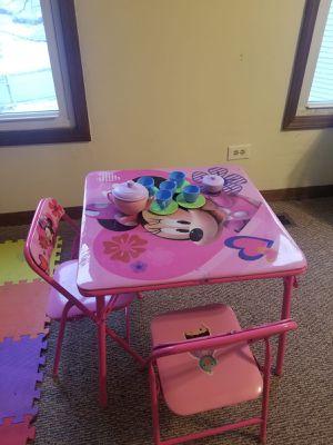 Photo Activity table chair set with tea set