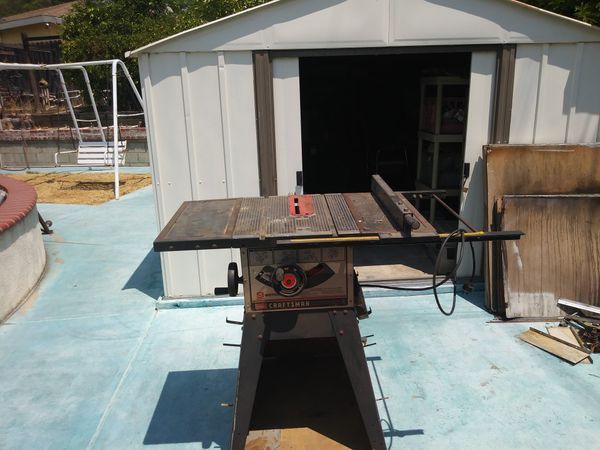 Craftsman Table Saw On Wheels Tools Machinery In Pomona Ca Offerup
