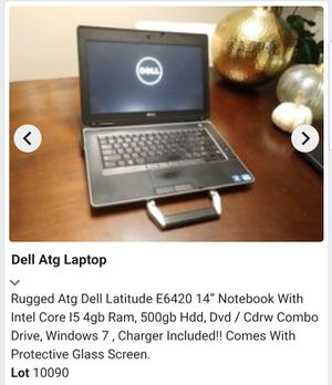 DELL ATG Latitude E6420 i5 Laptop computer for Sale in Manassas, VA