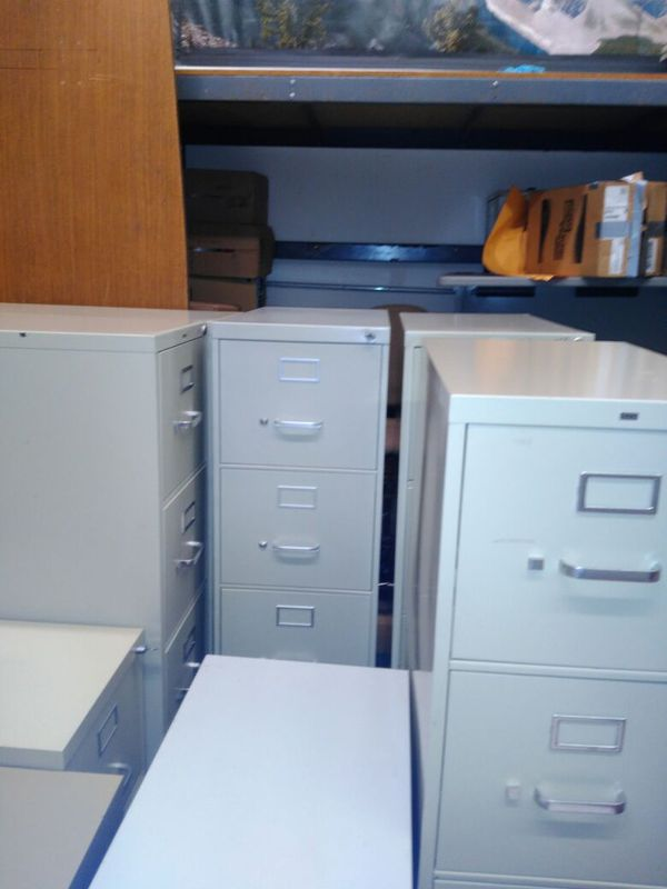 6 4 Drawers Vertical Letter Size Without Amp With Key Metal