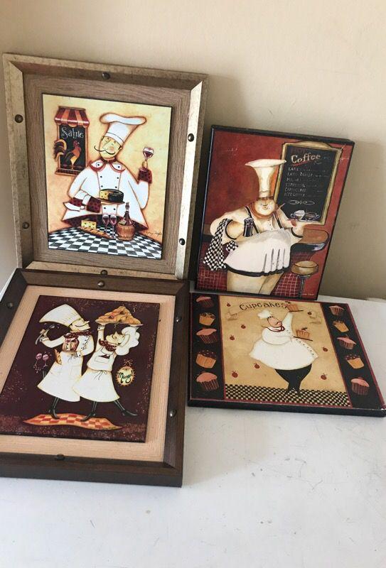 Chef man kitchen picture decor for Sale in Portsmouth, VA ...