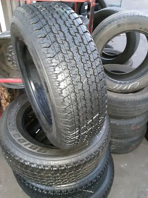 Photo Semi new tires set brinstone 265 65 17