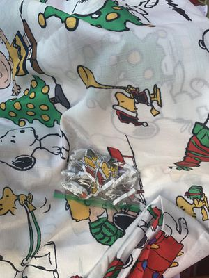 Peanuts shower curtain and hooks for Sale in Herndon, VA