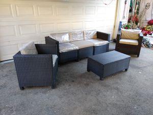 Outdoor patio sofa with chairs and coffee table for Sale in Los Angeles, CA
