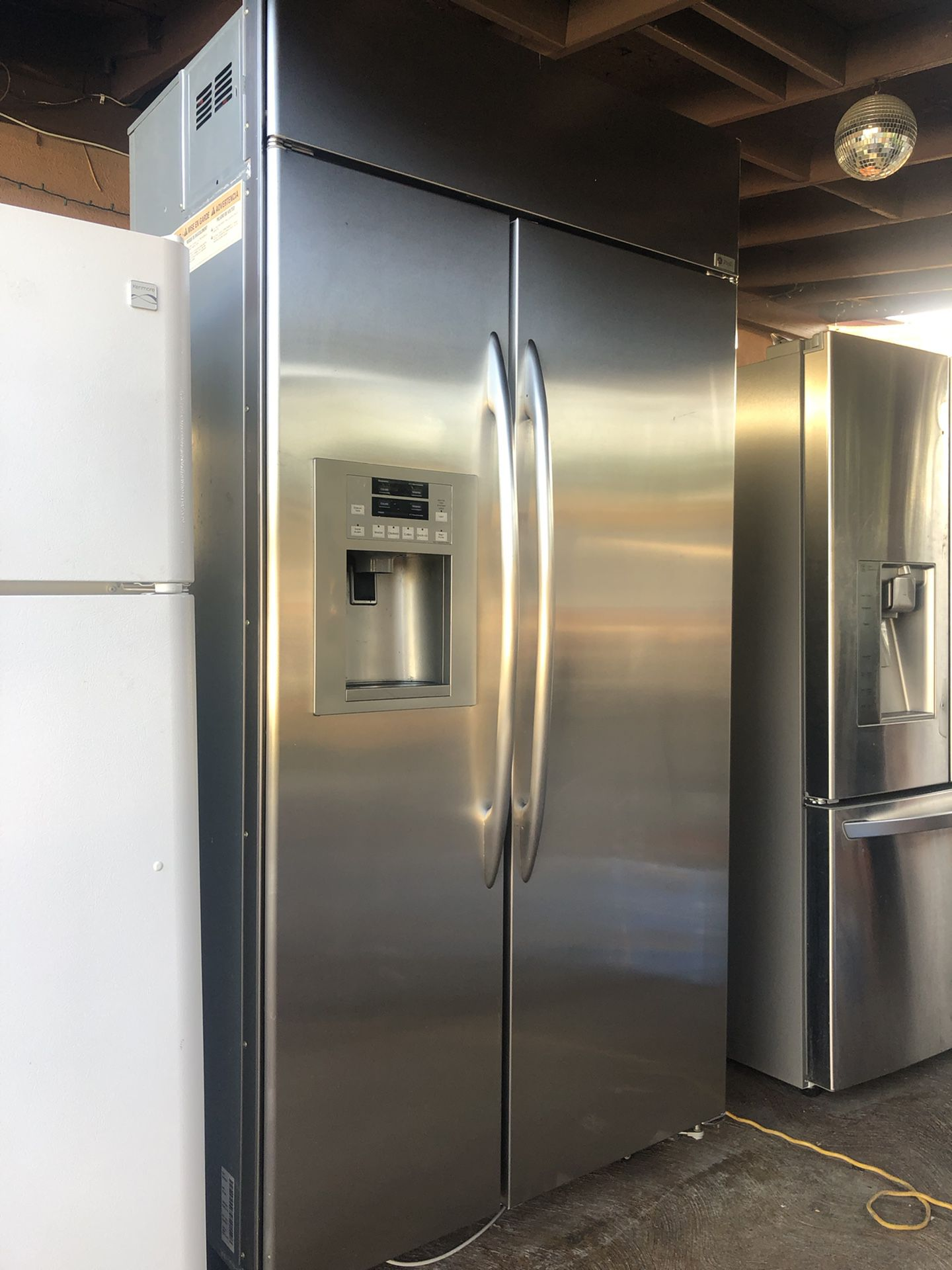 """Beautiful Stainless GE Built In Refrigerator 42"""" Wide"""