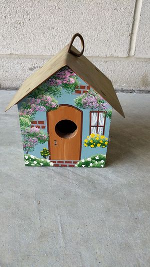 Hand-painted bird house with copper roof for Sale in Durham, NC