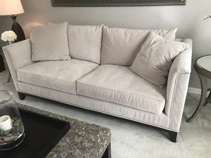 Z gallerie sofa/ couch like pottery barn/ west elm/ crate and barrell/ Havertys/ off white sofa/ off white couch for Sale in Aldie, VA