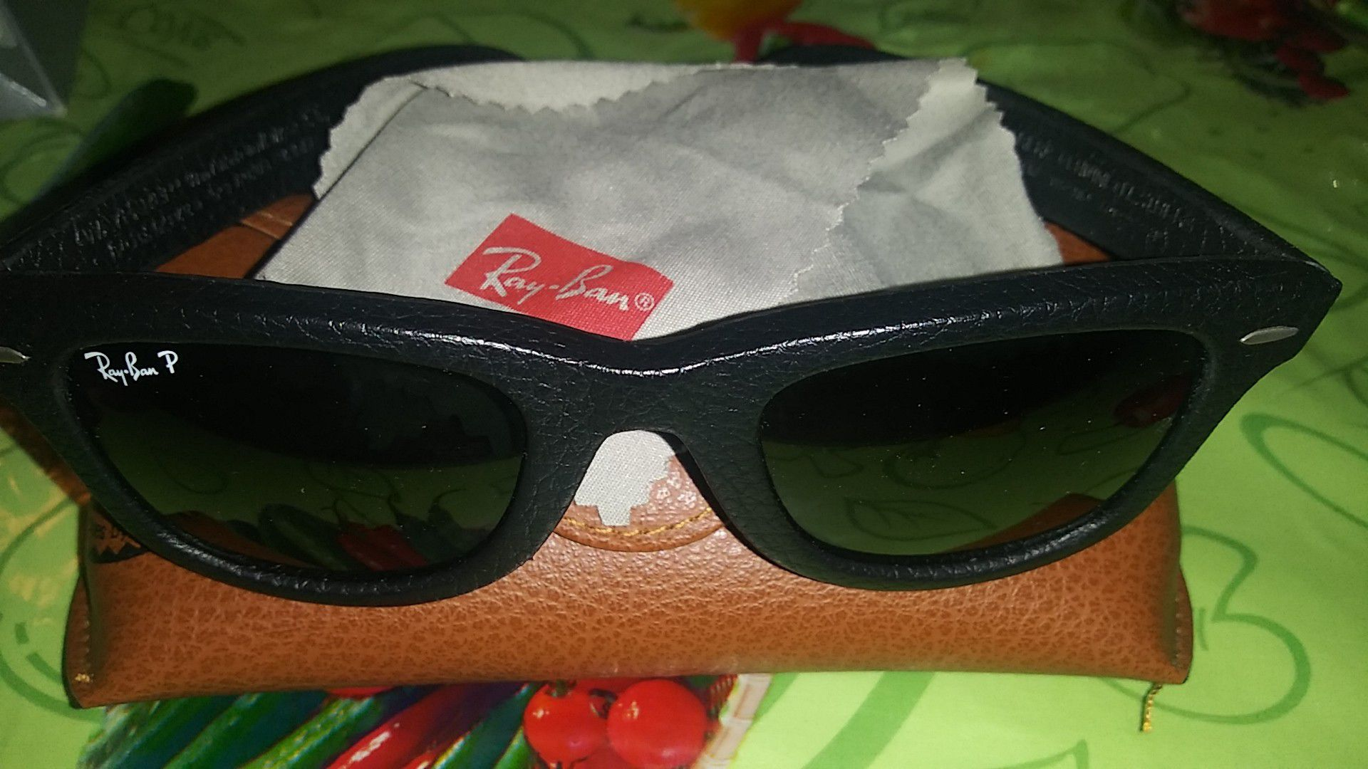 Leather Ray-Bans