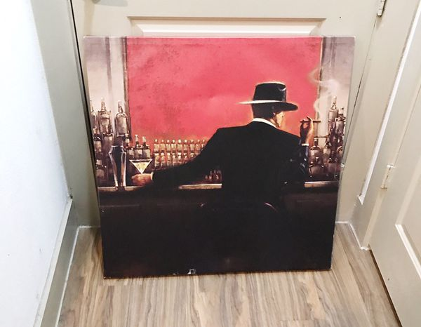 Brent Lynch: Cigar Bar Painting (Black and Red Canvas Art) for Sale in  Houston, TX - OfferUp