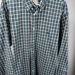 Brooks Brothers Mens Size 2XL Hunter Green Plaid Shirt. Excellent like new condition awesome color combination and design. Quality construction and de Thumbnail