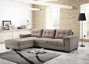 Light Brown Sectional sofa couch L shape for Sale in Baltimore, MD
