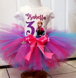 Anna Frozen Birthday Tutu Outfit Thumbnail