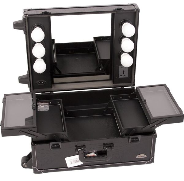 Traveling Makeup Train Case Vanity With Lights For Sale In Stockton