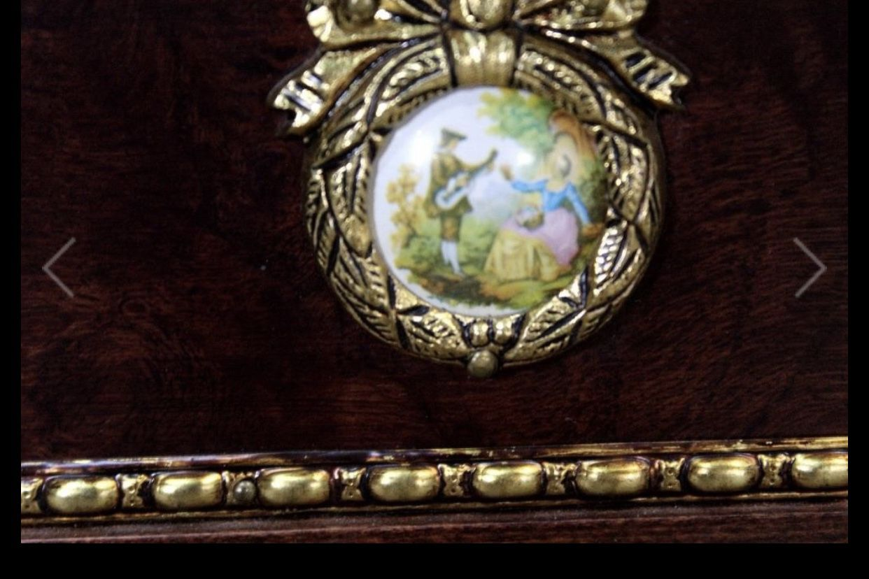 Marble Top Coffee Table, Cameo Detailing it measures H-19, L-40, D-20