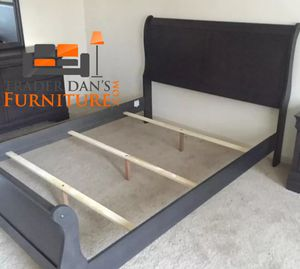 Brand New Queen Size Grey Wood Sleigh Bed Frame for Sale in Silver Spring, MD