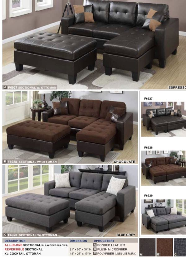 Sectional Sofa Ottoman Included Brand New Inside Of The Box Very
