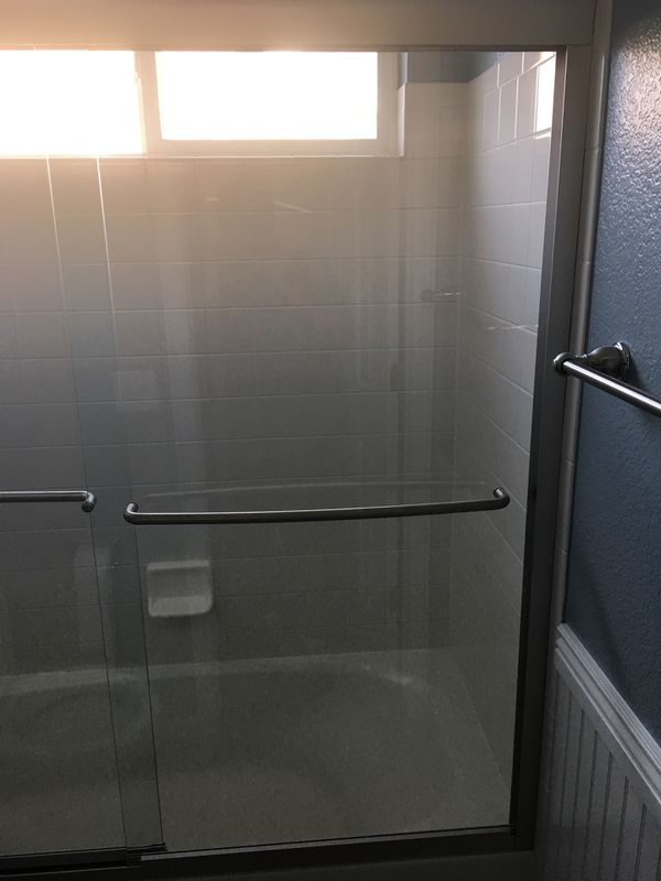 5 foot shower door never used glass by 58inches high for Sale in ...