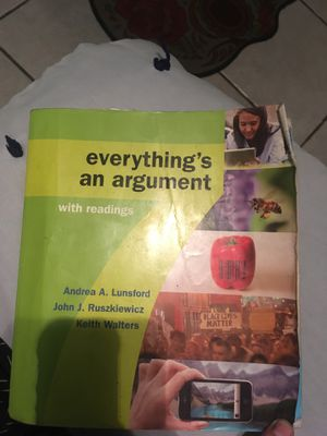Everything's an Argument with readings 7th ed. Andrea Lunsford for Sale in Los Angeles, CA