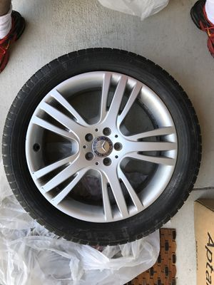 """Photo 19"""" Factory Mercedes Benz Rims and Tires for GLK Truck Tires:235/50R19 ALY85276 Mercedes, 19x7.5, 5 Lug, 112mm Bolt Pattern, 5 triple spoke silver"""