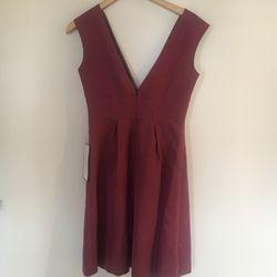 J Crew purple v neck dress size 4 Thumbnail