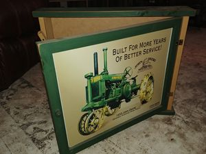 John Deer wooden wall hanging w accessories for Sale in Walkersville, MD