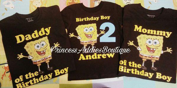 Spongebob Birthday Shirts Camisas De