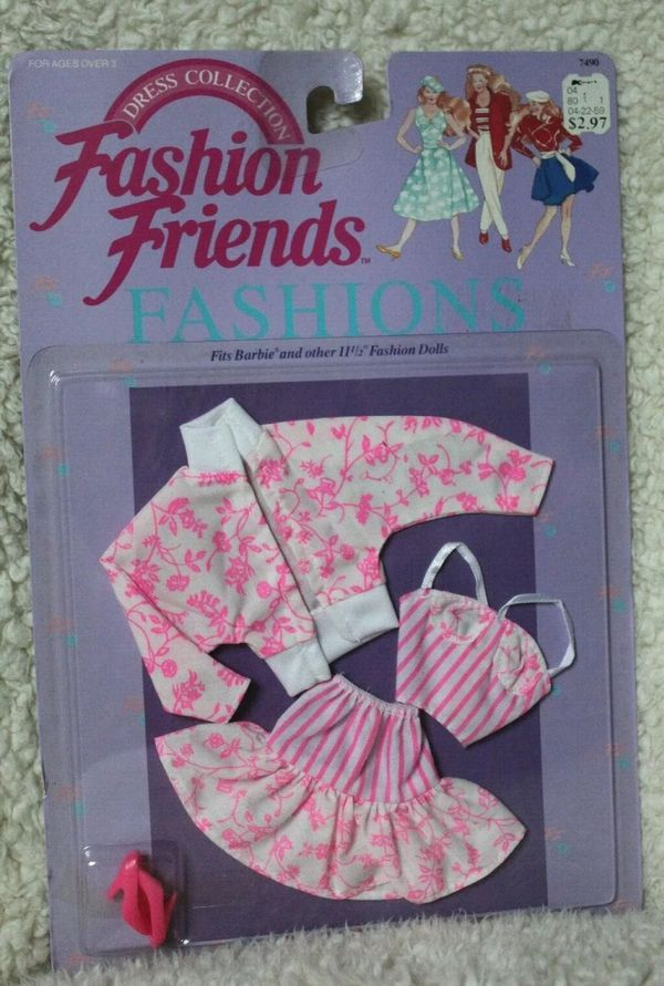 Vintage Mattel 1990 Dress Collection Fits Barbie And Other