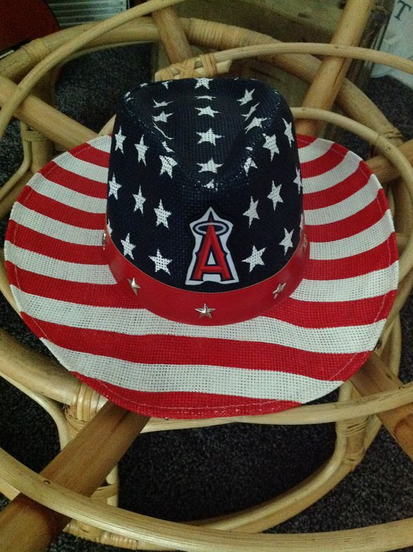 f4b1f7f0222 Angels Signature Patch Patriotic American Flag Cowboy Hat for Sale ...