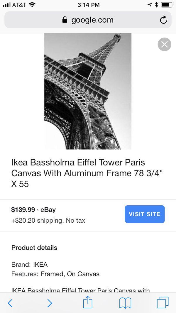 Cuadro De La Torre Eiffel Ikea 82x58 For Sale In Katy Tx Offerup