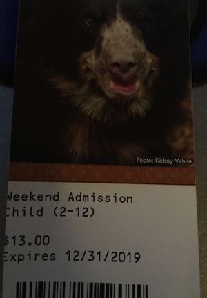 Nashville zoo admission tickets for Sale in La Vergne, TN