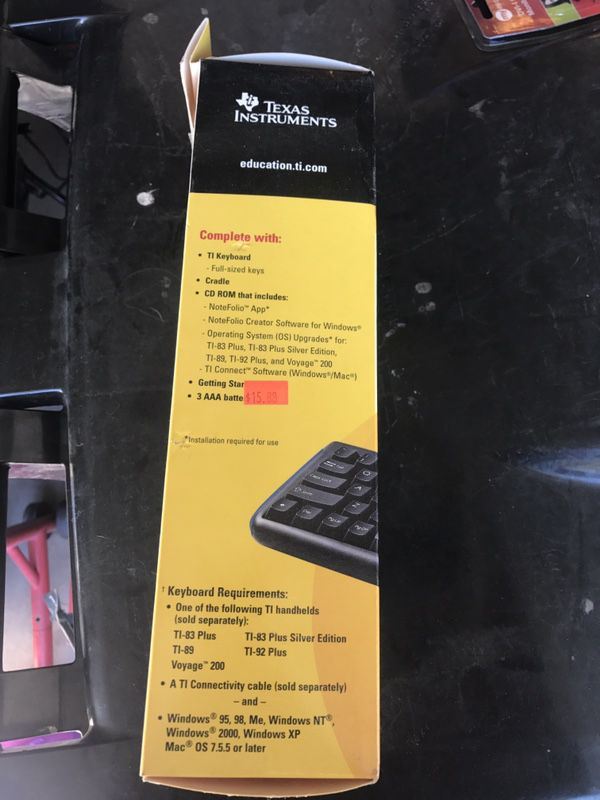 Texas Instruments keyboard