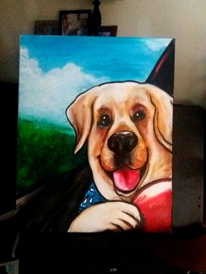 Dog acrylic painting for Sale in Orlando, FL