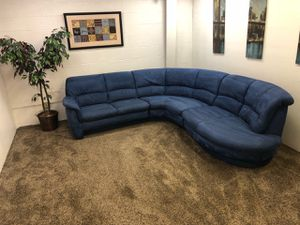 1266 3 Piece Sky Blue Sectional Sofa And Chaise Set For In Portland
