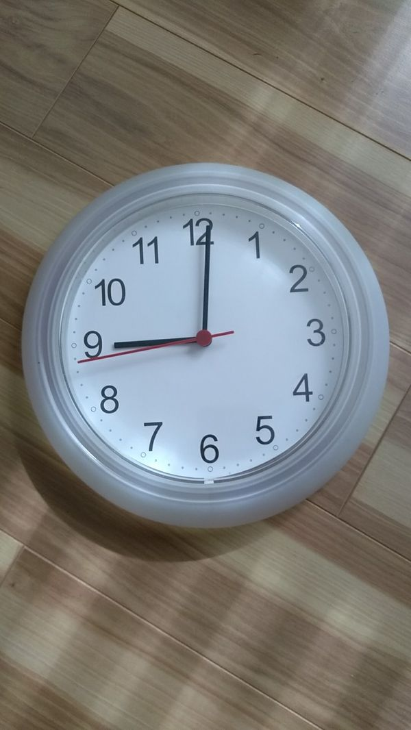 Ikea Battery Operated Wall Clock White For Sale In Chicago