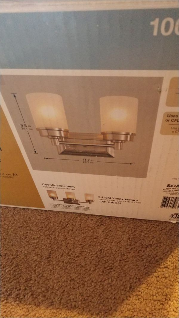 Hampton bay 2 light vanity light fixture (Household) in Phoenix, AZ ...