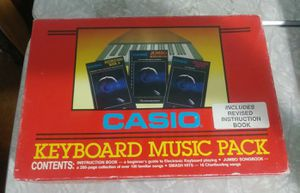 Vintage Casio Keyboard Music Pack for Sale in Kyle, TX