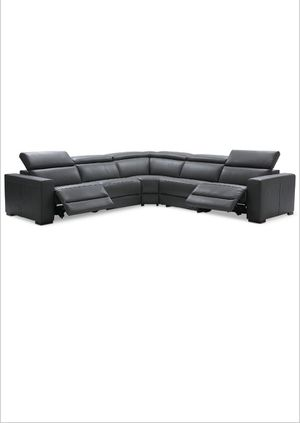 Nevio 5pc leather sectional w/ 2 power recliners for Sale in Ellenwood, GA