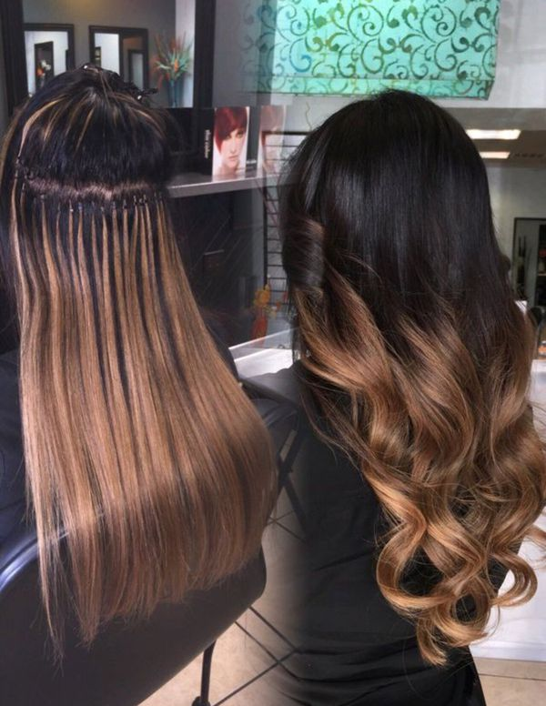Hair Extensions Silicon Micro Beats Real Remi Human Hair Any Color