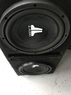 """2 10""""s jl audio w3 and dual ported box!!!!! for Sale in West Valley City, UT"""
