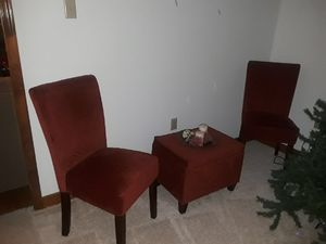 2 matching parson chairs with foot ottoman for Sale in Crozier, VA