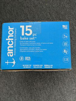 Anchor Hocking 15 pc Glass Bake Set in Box (never opened) Thumbnail
