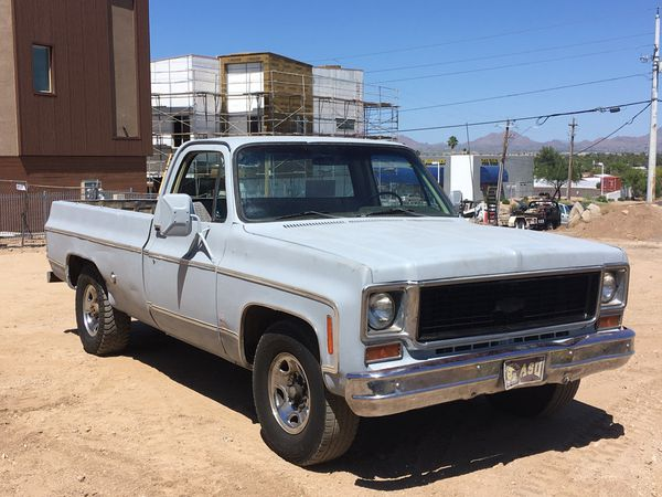 74 Chevy Long Bed 3  4 Ton Work Truck   Project For Sale In